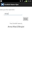 Screenshot of Scottish Name-Ifyer