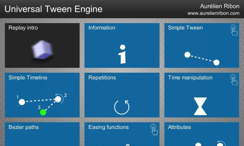 Universal Tween Engine - screenshot