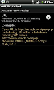 VoIP SMS CallBack- screenshot thumbnail