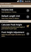 Screenshot of Grain Calculator