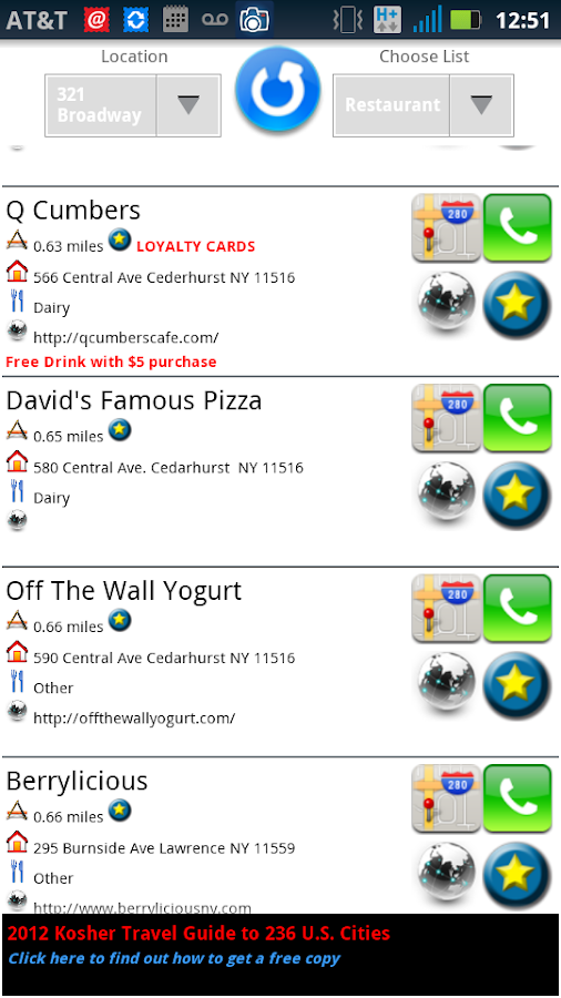 Kosher Restaurants GPS - screenshot