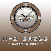 H-D Eagle Clock Widget