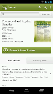 Theoretical & Applied Genetics- screenshot thumbnail
