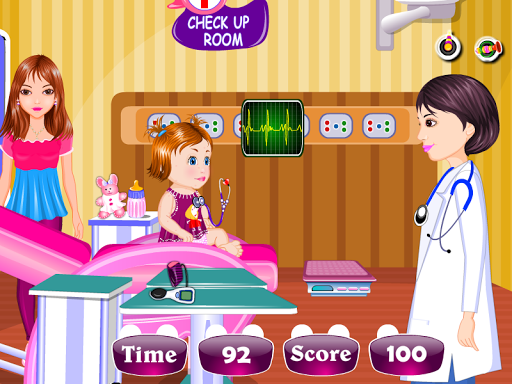 嬰兒醫療女孩子的遊戲
