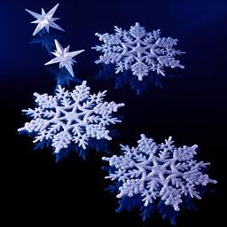 3Dの雪の花
