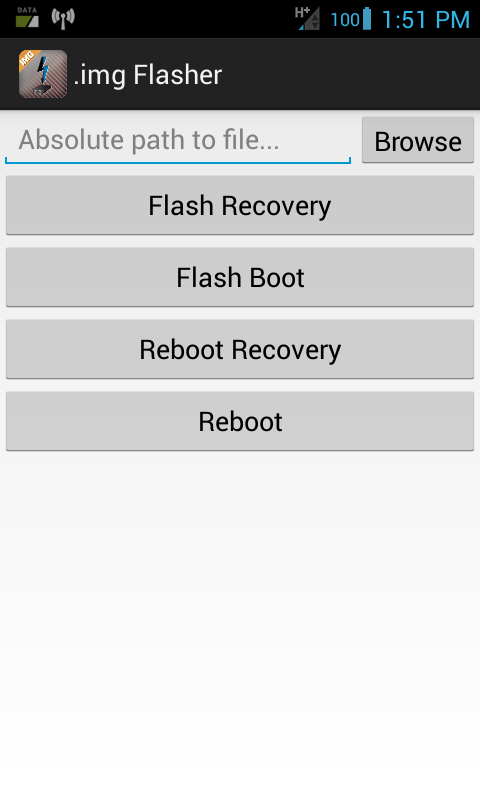 Android .img Flasher - screenshot
