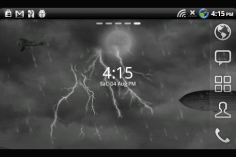 Lightning Live Wallpaper Clock - screenshot thumbnail