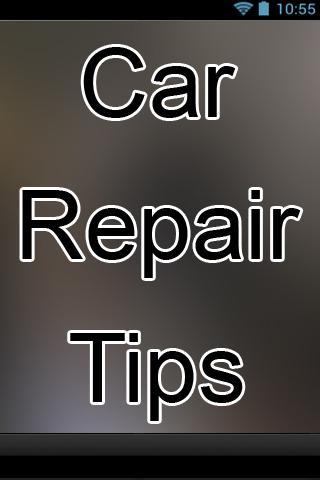 Car Repair Tips