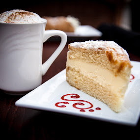 Coffee & Cake by Jim DeMicco - Food & Drink Candy & Dessert ( cake, cappuccino, coffee, dessert )