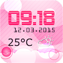 Pink Clock And Weather Widget icon