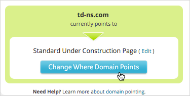 Change Where Domain Points button