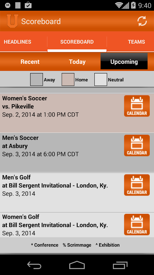 Union College Bulldogs- screenshot