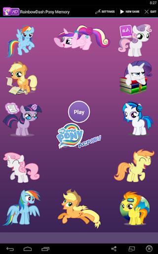 RainbowDash Pony Memory