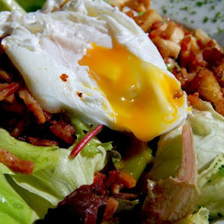 Easy Poached Egg Salad.