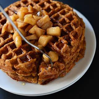 Vegan Apple Cinnamon Waffles.