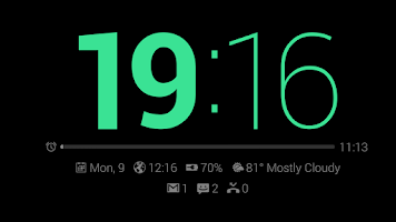 Screenshot of Dock Clock Plus (Night/Desk)