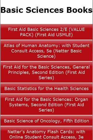 Basic Sciences Books