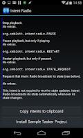 Screenshot of Intent Radio