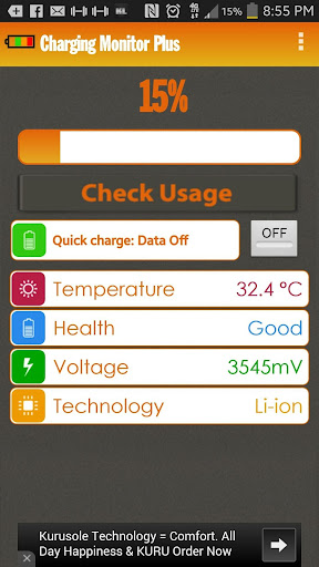 Quick charge monitor