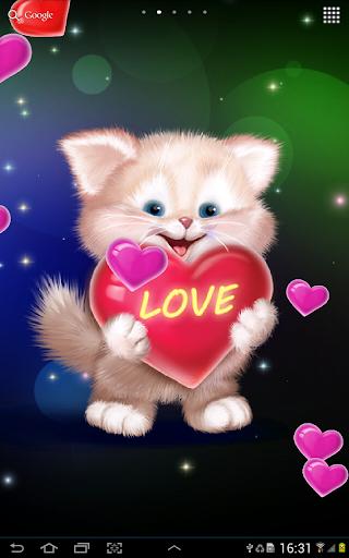 玩個人化App|Cute Cat Live Wallpaper免費|APP試玩