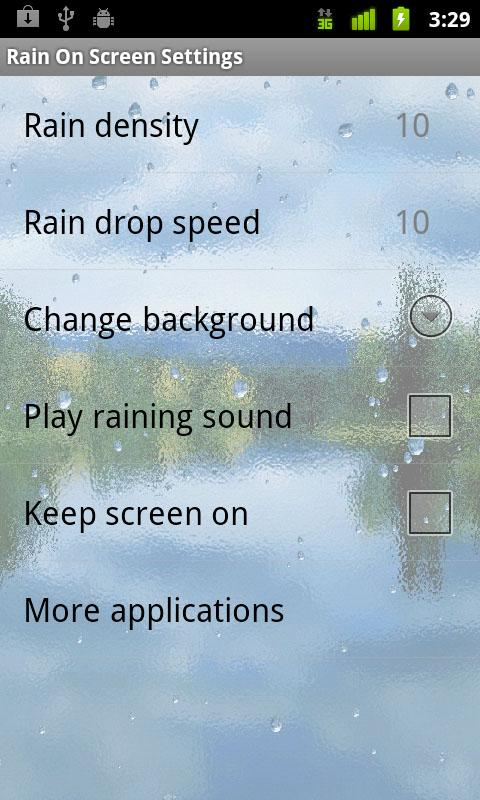 Rain On Screen - screenshot