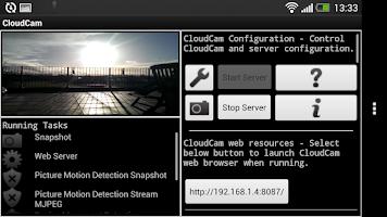 Screenshot of Cloud Spy Cam Demo