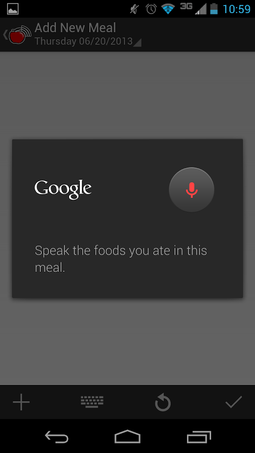Sound Off Food Tracker - screenshot