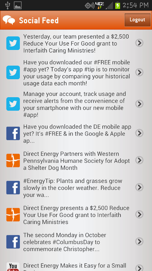 Direct Energy Account Manager - screenshot
