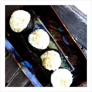 Avocado Onigiri with Ginger Kewpie Mayo.