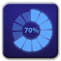 Circle battery disc widget icon