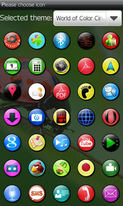 XO Circle theme GO launcher - screenshot