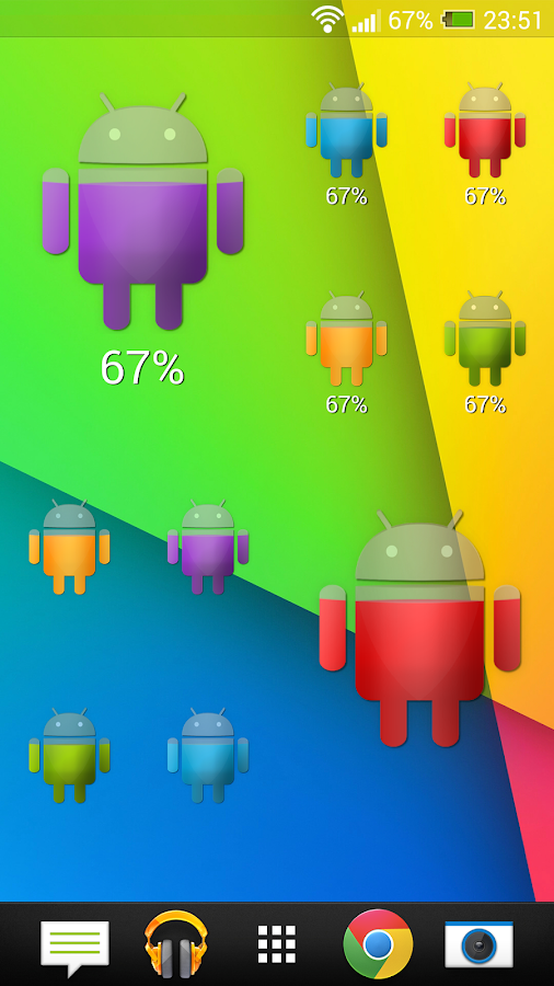 Droid Battery Widget Plus- screenshot