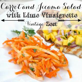 Carrot and Jicama Salad with Lime Vinaigrette