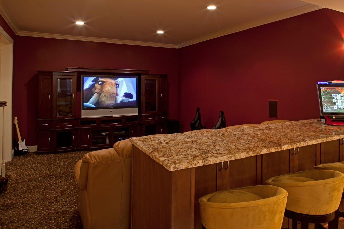 Media Room Paint Ideas Part - 50: Red Room Painting Ideas Android Apps On Google Play