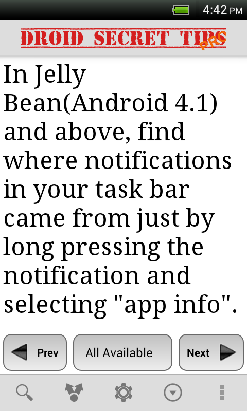 Droid Secret Tips Pro - screenshot