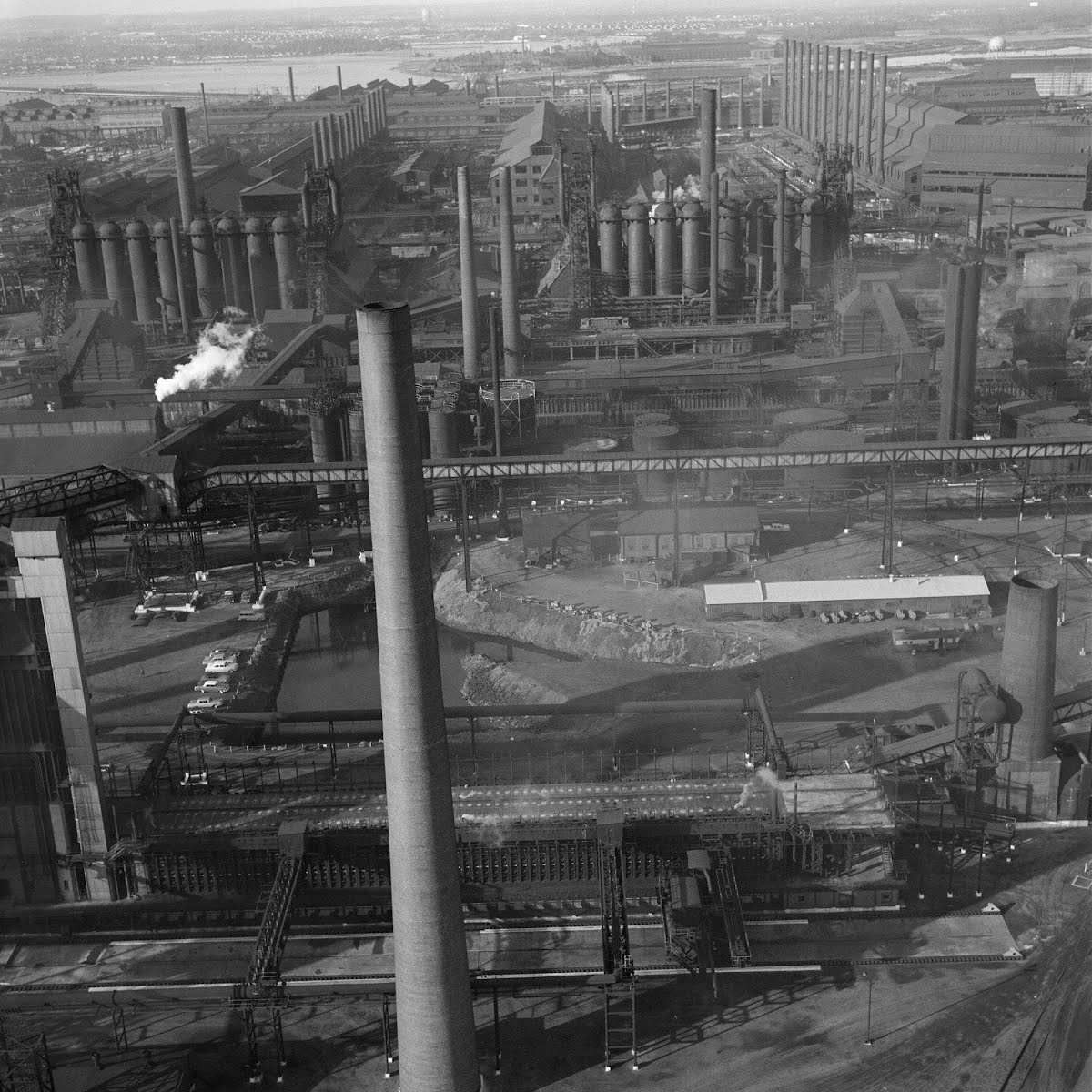 Smokeless Stacks At Steel Plant Baltimore Maryland