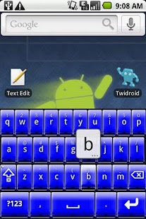 Better Keyboard Skin - Blue - screenshot thumbnail