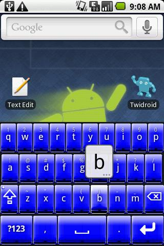 Better Keyboard Skin - Blue - screenshot