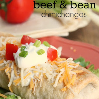 Baked Beef & Bean Chimichangas
