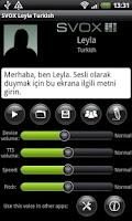 Screenshot of SVOX Turkish/Türk Leyla Trial
