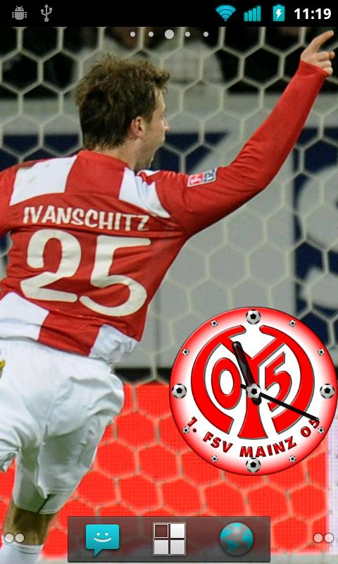 1. FSV Mainz 05 Clock Widget - screenshot