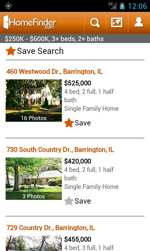 HomeFinder.com Real Estate - screenshot