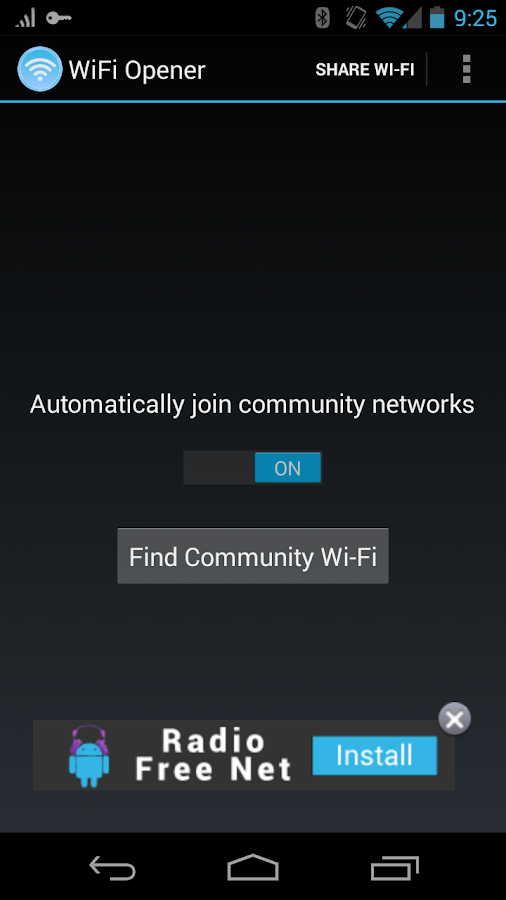 WiFi Opener - screenshot