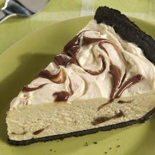 Peanut Butter and Fudge Swirl Pie.