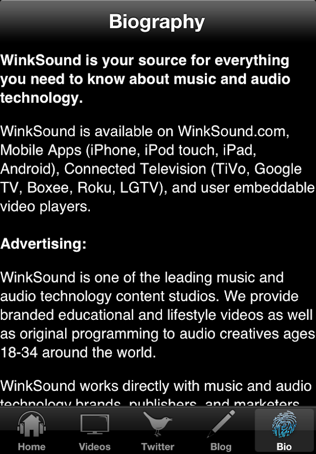 WinkSound - screenshot