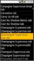 Screenshot of Guitar Tab /Piano Chord Finder