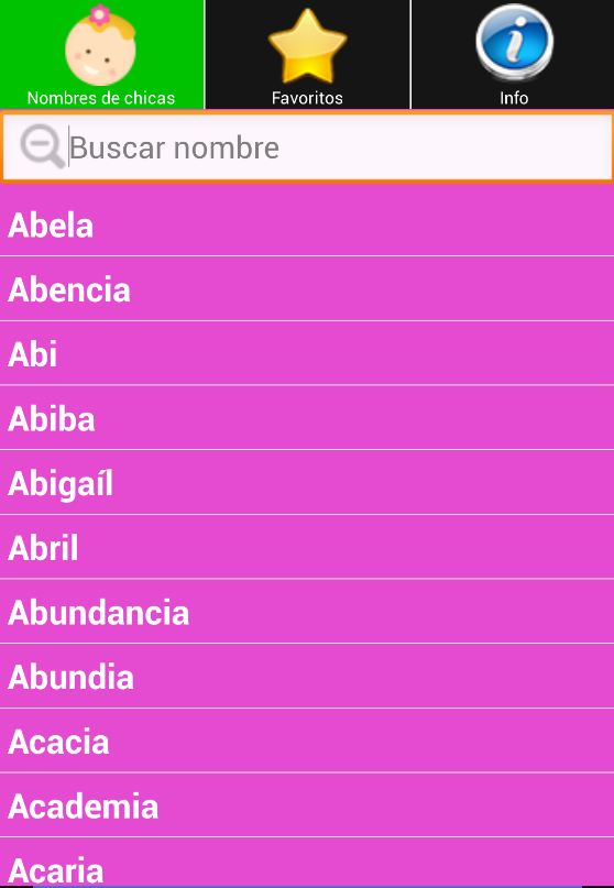 Nombres Bebes y Significado- screenshot