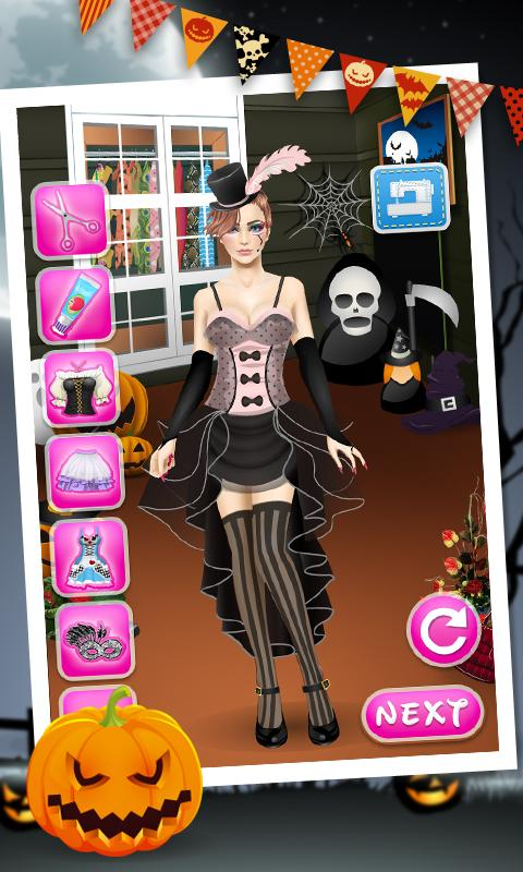 halloween spa kids games screenshot - Halloween Fashion Games