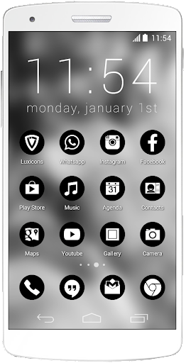 Luxicons Clean Black White