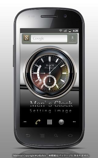 メンズデザインアナログ時計ウィジェット